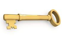 Digitally generated shiny gold key Royalty Free Stock Photography