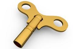 Digitally generated shiny gold key Royalty Free Stock Image