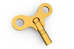 Digitally generated shiny gold key Stock Photography