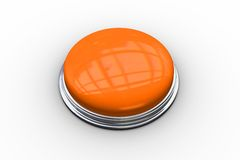 Digitally generated shiny orange push button Royalty Free Stock Photo