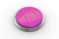 Digitally generated shiny pink push button Royalty Free Stock Images