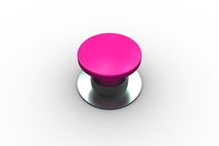 Digitally generated shiny pink push button Stock Images