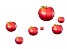 Digitally generated shiny red apples Stock Images