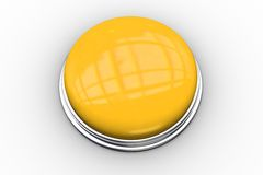 Digitally generated shiny yellow push button Stock Image
