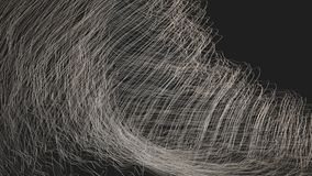 Digitally Generated Abstract Waves stock video footage