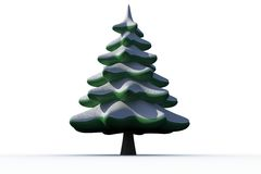 Digitally generated snowy Fir tree Stock Images