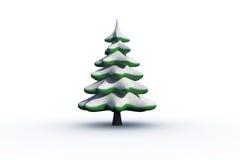 Digitally generated snowy Fir tree Royalty Free Stock Photo