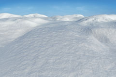 Digitally generated snowy land scape Stock Images
