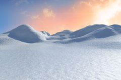 Digitally generated snowy land scape Stock Photography