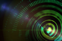 Digitally generated spiral design Stock Image
