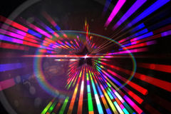 Digitally generated star laser background Royalty Free Stock Photo