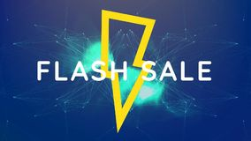 Digitally generated video of flash sale