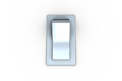Digitally generated white flip switch Stock Photography