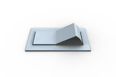 Digitally generated white flip switch Royalty Free Stock Image