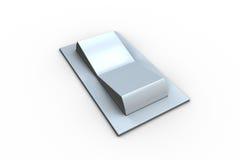 Digitally generated white flip switch Stock Photo