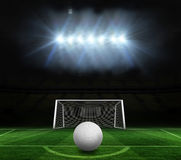 Digitally generated white leather football Royalty Free Stock Images
