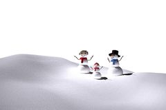 Digitally generated white snow family Stock Images