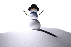 Digitally generated white snow man Royalty Free Stock Image