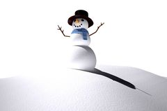 Digitally generated white snow man Stock Images
