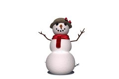 Digitally generated white snow woman Stock Photography