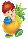 Pineapple Boy Royalty Free Stock Images