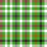 Digitally rendered checkered green brown white tablecloth. Abstract geometric digitally rendered checkered pattern usable for scrapbook or print on curtain Royalty Free Stock Photos
