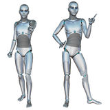 Robot android male Stock Photography
