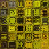Digitally rendered yellow glass tiles Royalty Free Stock Photography