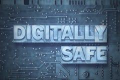Digitally safe - pc blue Stock Photos