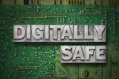 Digitally safe - pc board Stock Images