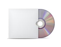 Digitalschallplatte mit Abdeckung. Stockfotografie