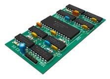 Digitalschaltungvorstand mit Mikrochips Lizenzfreies Stockfoto