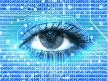 digitalt öga Fotografering för Bildbyråer