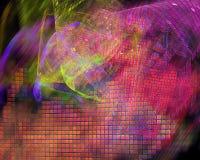 Digitalt abstrakt begrepp för Fractal, design för explosion för prydnad för idérik mall för kurva för effekttextur härlig stock illustrationer