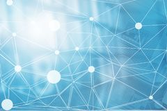 Digitalt begrepp för kvarterkedja Bakgrund för internet för blockchain för data för affärsteknologi stor Finansiell information C vektor illustrationer