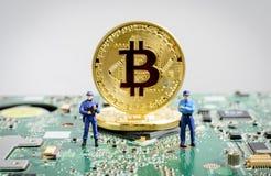 digitalt begrepp för valutablockchaincrytocurrencies royaltyfri fotografi