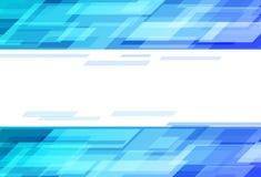 Digitalt blått hastighetsbegrepp för teknologi, rektanglar som klipper scatt royaltyfri illustrationer
