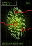 digitalt fingeravtryck Royaltyfri Bild