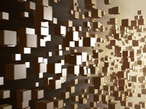 digitalt flöde för kub Arkivbild