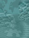 digitalt globalt pussel 2 Royaltyfri Bild