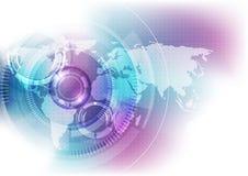 Digitalt globalt teknologibegrepp för vektor, abstrakt bakgrund Royaltyfri Foto