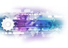 Digitalt globalt teknologibegrepp för vektor, abstrakt bakgrund Royaltyfria Bilder