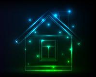 digitalt hus Arkivbilder