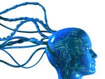 digitalt huvud för cyber 3d Royaltyfria Bilder