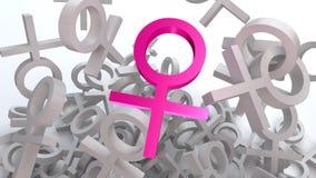 digitalt kvinnlig frambragt bildsymbol Arkivbild