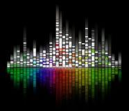 digitalt kvittera ljudet royaltyfri illustrationer