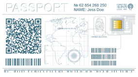digitalt pass för cyber arkivfoton