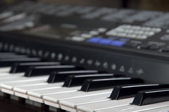 digitalt piano royaltyfri fotografi