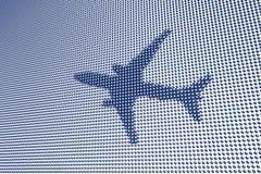digitalt symbol för flygplan royaltyfria foton
