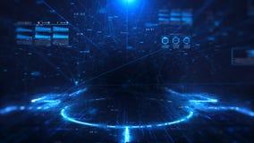 Digitaltechnik und Wissenschaftshintergrund stock video footage